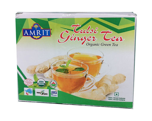 Picture of Amrit Tulsi Ginger Green Tea