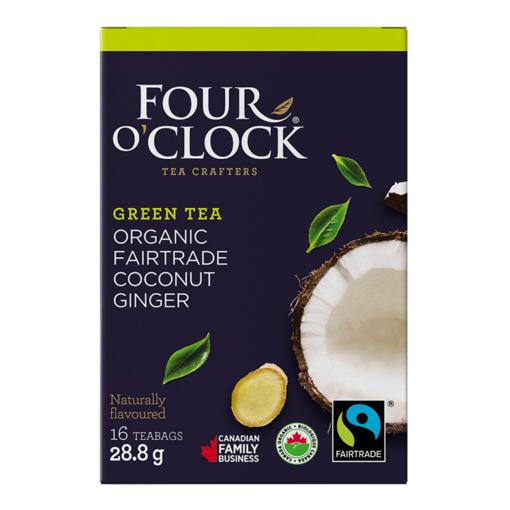 Picture of Four O'Clock Tea Organic Coconut Ginger Green Tea