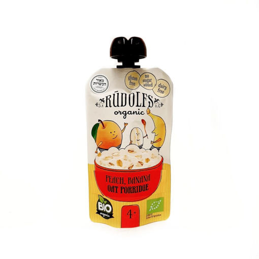 Picture of Peach Banana Oat Porridge Organic, Rudolfs