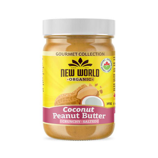 Picture of Coconut Peanut Butter, Crunchy Salted Organic, New World Foods