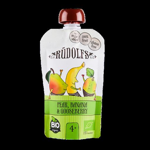 Picture of Pear Banana Gooseberry Puree Organic, Rudolfs