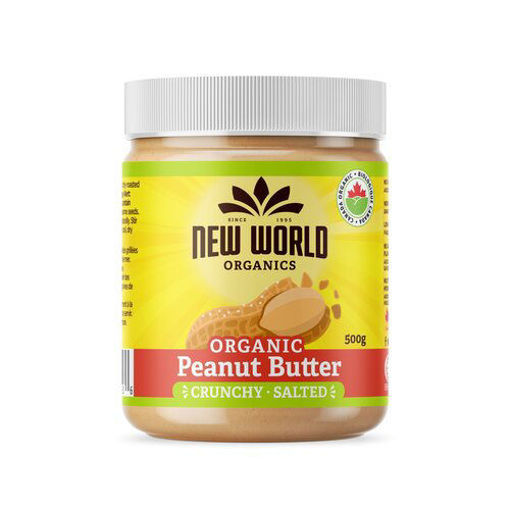 Picture of Peanut Butter Crunchy Salted Organic, New World Foods
