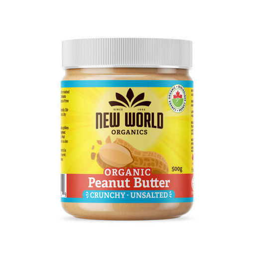 Picture of Peanut Butter Crunchy Unsalted Organic, New World Foods