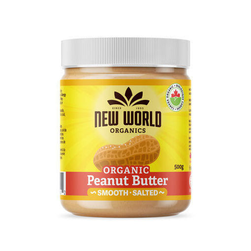 Picture of Peanut Butter Smooth, Salted Organic, New World Foods