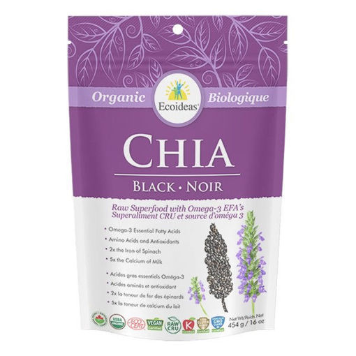 Picture of Black Chia Seeds Oragnic, Ecoideas