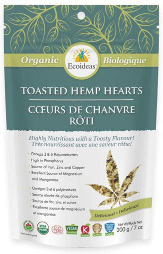 Picture of Toasted Hemp Hearts Organic Ecoideas