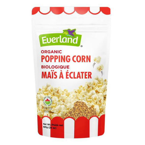 Picture of Yellow Popping Corn Kernels Organic, Everland