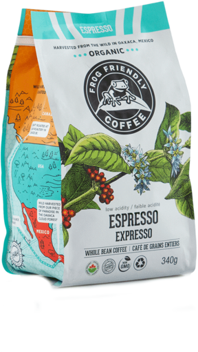 Picture of Espresso Roast – Whole Bean Organic, Frog Friendly