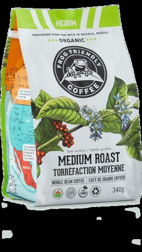 Picture of Medium Roast – Whole Bean Organic, Frog Friendly