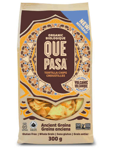 Picture of Ancient Grains Tortilla Chips Organic, Que Pasa Foods