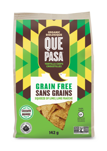 Picture of Squeeze of Lime Grain-Free Tortilla Chips Organic, Que Pasa Foods