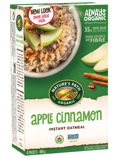 Picture of Apple Cinnamon Instant Hot Oatmeal Organic, Nature's Path