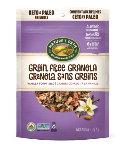 Picture of Vanilla Poppy Seed Grain Free Granola Organic, Nature's Path