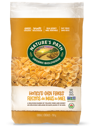 Picture of Honey'd Corn Flakes Organic, Nature's Path