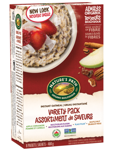 Picture of Variety Pack Oatmeal Organic, Nature's Path